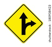 two intersection sign  | Shutterstock . vector #180938423