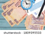 10 Indian Rupees Bills And...