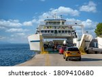 Boarding  Cars On A Ferry....
