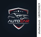 car garage premium concept logo ...   Shutterstock .eps vector #1809420829