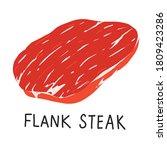Flank Steak  Raw Meat  Uncooke...