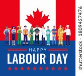 happy labor day. various... | Shutterstock .eps vector #1809437476