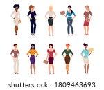 set of women in businesswomen...   Shutterstock .eps vector #1809463693