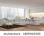 Modern Living  Dining Room And...