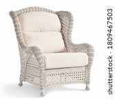 Wicker Armchair Isolated On...