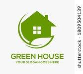green house vector logo...