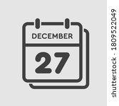vector icon calendar day   27... | Shutterstock .eps vector #1809522049