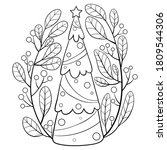 adult coloring book page a new... | Shutterstock .eps vector #1809544306