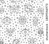 seamless pattern with scattered ... | Shutterstock .eps vector #1809546973