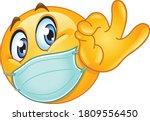 emoji emoticon with medical...   Shutterstock .eps vector #1809556450