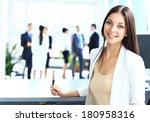 young businesswoman and her...   Shutterstock . vector #180958316