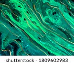 green marble and gold abstract... | Shutterstock .eps vector #1809602983
