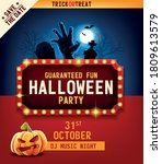 halloween party invitation with ... | Shutterstock .eps vector #1809613579