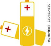 electric battery icon. flat...