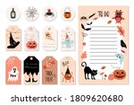 halloween hanged labels and to... | Shutterstock .eps vector #1809620680