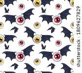 flying eyeballs with bat wings... | Shutterstock .eps vector #1809627829