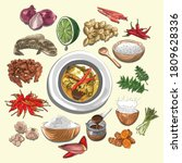 curry eungkot paya illustration ...   Shutterstock .eps vector #1809628336