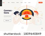 business topics   connections ... | Shutterstock .eps vector #1809640849