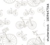 Seamless Pattern With Bicycles...