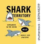 shark illustration with slogans ...   Shutterstock .eps vector #1809648259