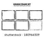 grunge frame set. vector... | Shutterstock .eps vector #180966509