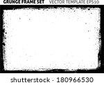 grunge frame. vector template | Shutterstock .eps vector #180966530