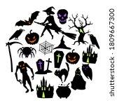 happy halloween greeting card... | Shutterstock .eps vector #1809667300