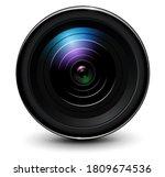 camera photo lens 3d realistic... | Shutterstock .eps vector #1809674536