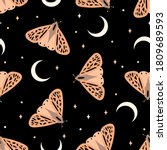 Seamless Pattern With Butterfl...