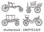 outline set of classic cab ... | Shutterstock .eps vector #1809701329