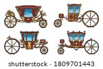 Set Of Royal Horse Chariot Or...