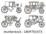 outline set of vintage... | Shutterstock .eps vector #1809701473