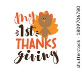 my first thanksgiving  phrase... | Shutterstock .eps vector #1809706780