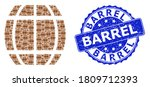 Barrel Rubber Round Stamp Seal...