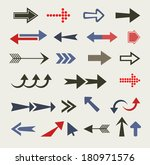 arrow set  retro style  | Shutterstock . vector #180971576