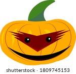 Pumpkin Ghost Cheerful Cartoon...