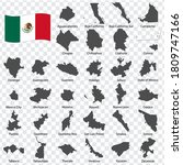 thirty two maps united mexican... | Shutterstock .eps vector #1809747166