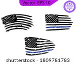 thin blue line us flag. flag... | Shutterstock .eps vector #1809781783