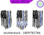thin blue line us flag. flag... | Shutterstock .eps vector #1809781786