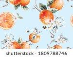 Seamless Pattern Of Tangerines...