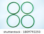 Green Bangles Isolated On White ...