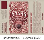 gin label with floral ornaments | Shutterstock .eps vector #1809811120