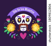 day of the dead  d a de los... | Shutterstock .eps vector #1809812806