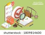 3d isometric flat vector... | Shutterstock .eps vector #1809814600