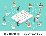 3d isometric flat vector... | Shutterstock .eps vector #1809814606