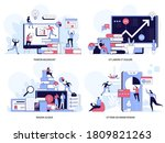 successful business concepts... | Shutterstock .eps vector #1809821263