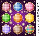 scotch hexagon in border gold...