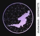 Bequia Icon. Vector Polygonal...