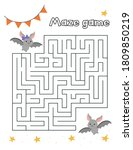 halloween labyrinth for... | Shutterstock .eps vector #1809850219