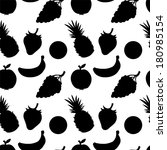 seamless pattern with fruits... | Shutterstock .eps vector #180985154
